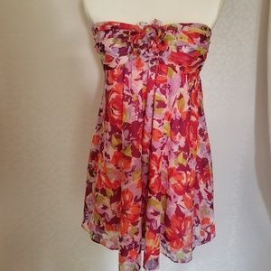 Twenty One Size Small Floral Strapless Top/Dress